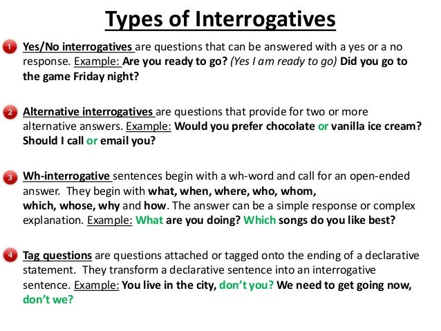 what is interrogative sentence and give example