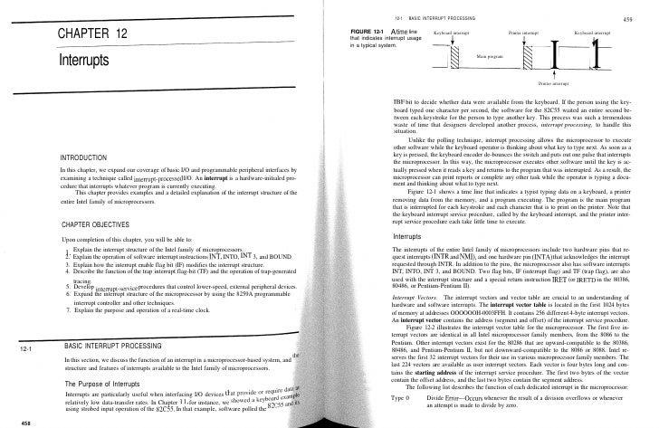 12-1   BASIC INTERRUPT PROCESSING                                                                                 459     ...