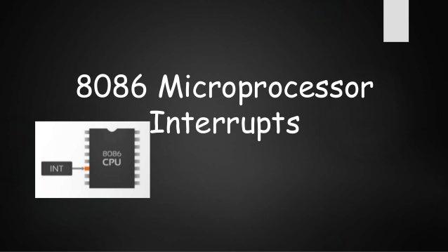 Interrupts of 8086 Slide 2