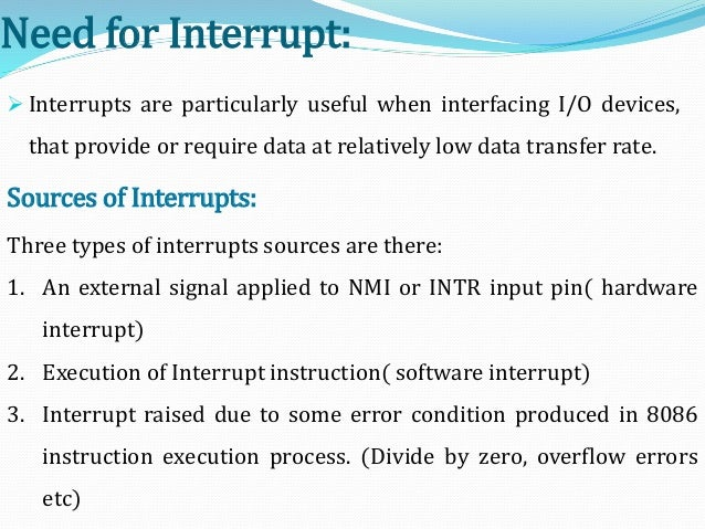 interrupts and interrupt applications Interrupts in 8051 microcontroller are more desirable to reduce the regular status  checking of interfaced or inbuilt  similarly, the high-priority interrupt cannot be  interrupted  previous thermistor types – their workings and applications.