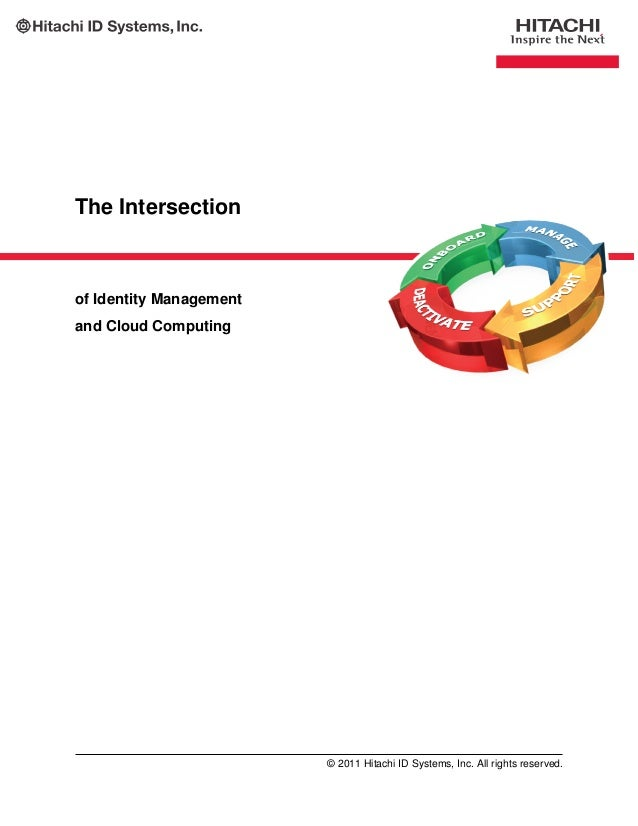 The Intersection of Identity Management and Cloud Computing © 2011 Hitachi ID Systems, Inc. All rights reserved.