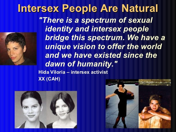 Intersexual humans