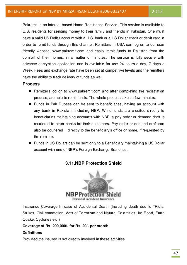 nbp report Islamabad: showing dissatisfaction over the report of state bank of pakistan ( sbp) regarding misappropriation in the promotion process for.