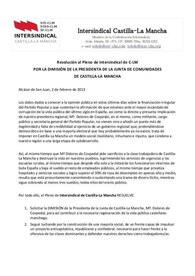 Intersindical Castilla-La Mancha                                                Miembro de la Confederación Intersindical....