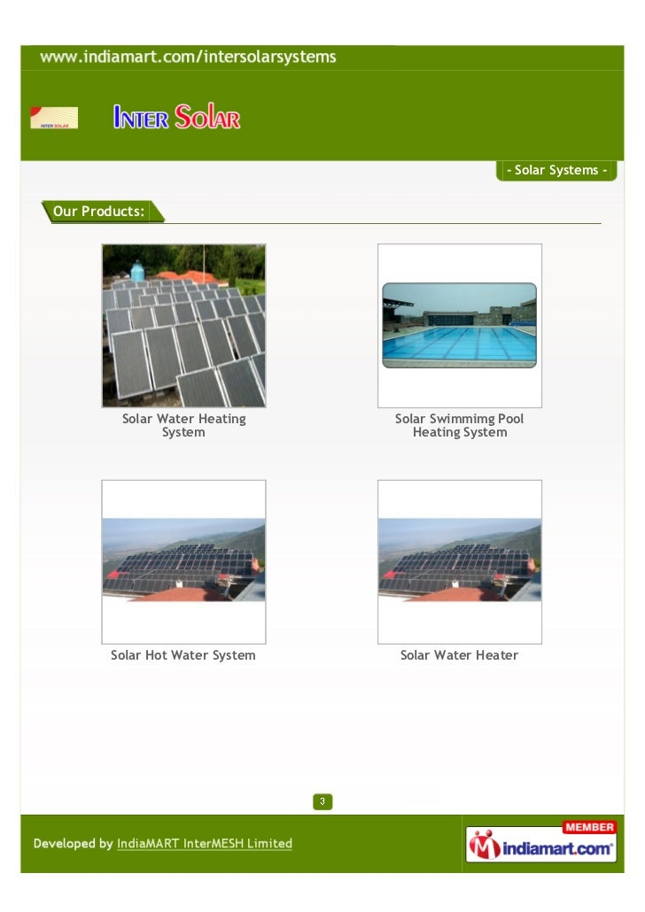 Inter Solar Systems Private Limited, Chandigarh,. Solar Systems  Slide 3