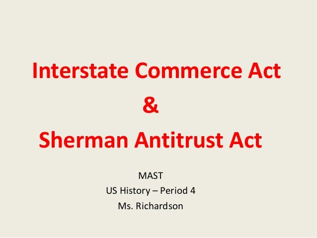 what was the interstate commerce act