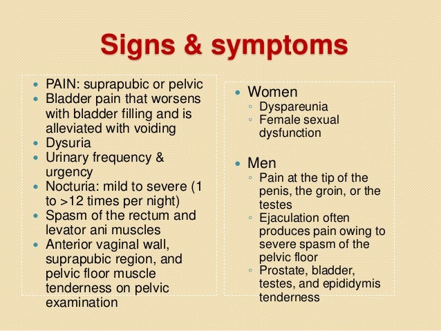 Sex interstitial cystitis