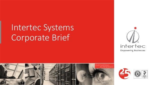 Intertec Systems Corporate Brief
