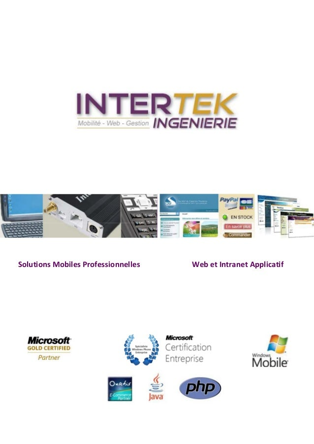 Solutions Mobiles Professionnelles   Web et Intranet Applicatif