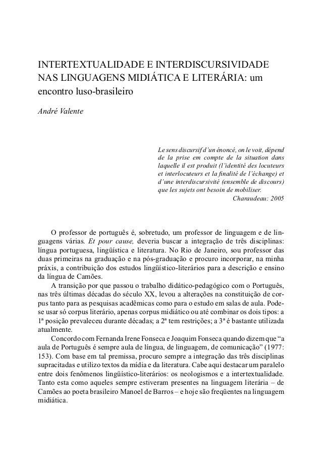 79INTERTEXTUALIDADE E INTERDISCURSIVIDADE NAS LINGUAGENS MIDIÁTICA INTERTEXTUALIDADE E INTERDISCURSIVIDADE NAS LINGUAGENS ...