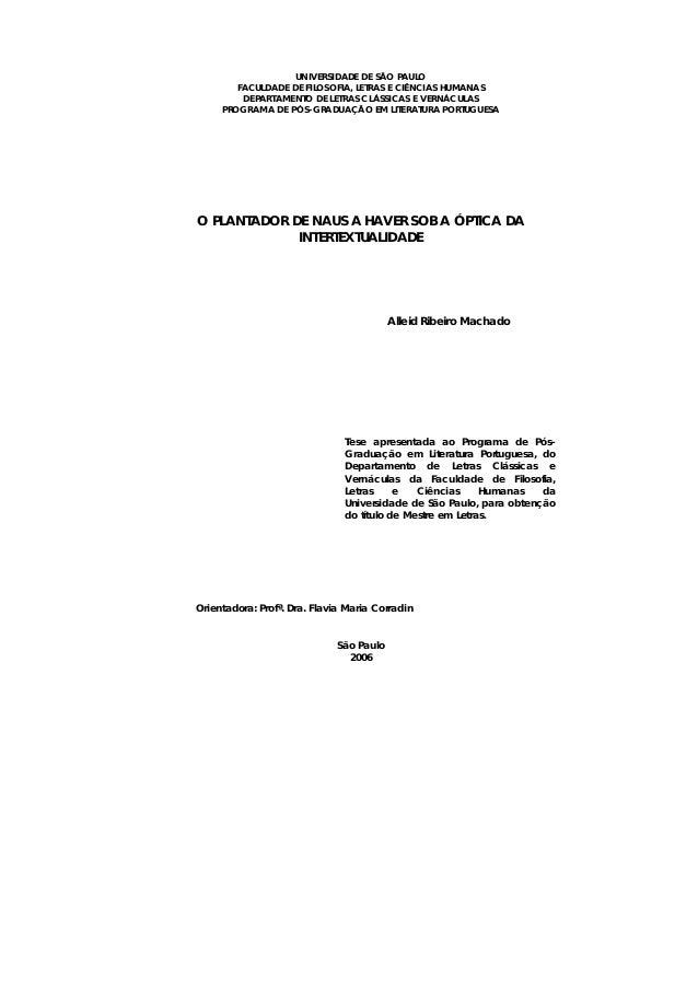 UNIVERSIDADE DE SÃO PAULO FACULDADE DE FILOSOFIA, LETRAS E CIÊNCIAS HUMANAS DEPARTAMENTO DE LETRAS CLÁSSICAS E VERNÁCULAS ...