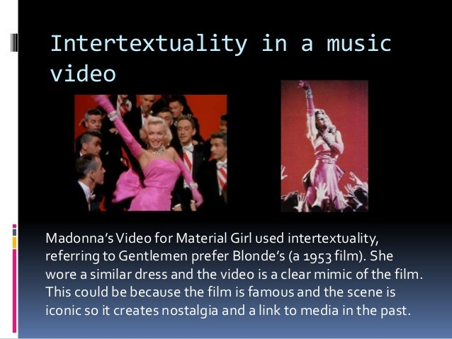 Intertextuality in music videos