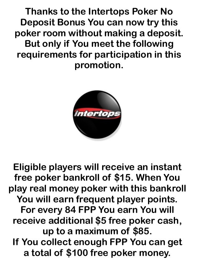 Intertops No Deposit Bonus