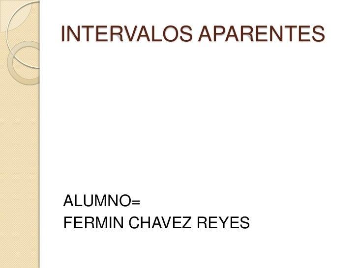 INTERVALOS APARENTESALUMNO=FERMIN CHAVEZ REYES