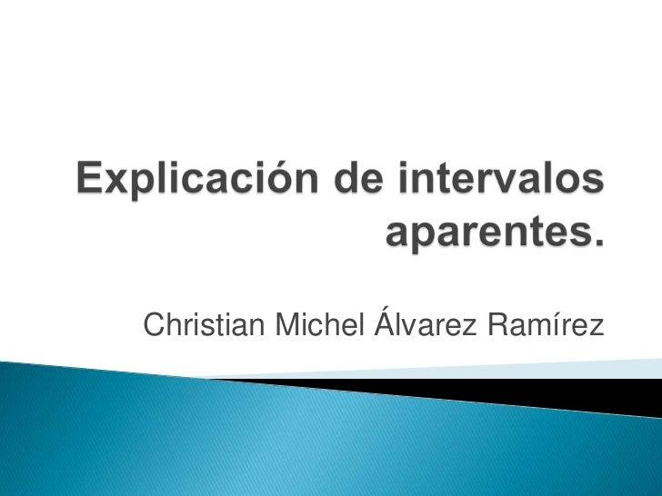 Christian Michel Álvarez Ramírez