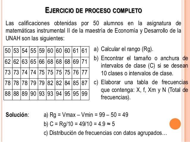 Como calcular el rango en estadística para datos agrupados