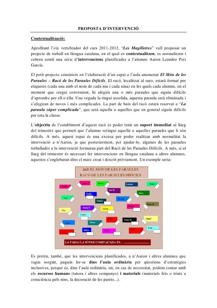 """PROPOSTA D'INTERVENCIÓContextualització:Aprofitant l'eix vertebrador del curs 2011-2012, """"Les Magilletres"""" vull proposar u..."""
