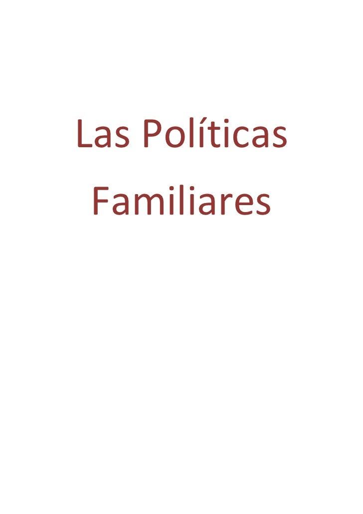 Las PolíticasFamiliares