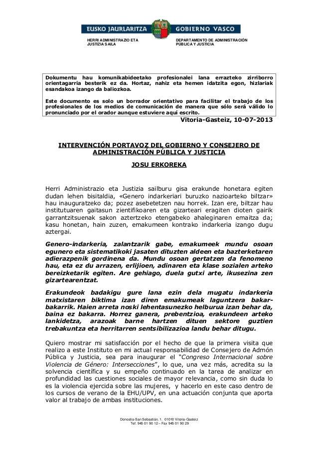 Donostia-San Sebastián, 1. 01010 Vitoria-Gasteiz Tef. 945 01 90 12 – Fax 945 01 90 29 HERRI ADMINISTRAZIO ETA JUSTIZIA SAI...