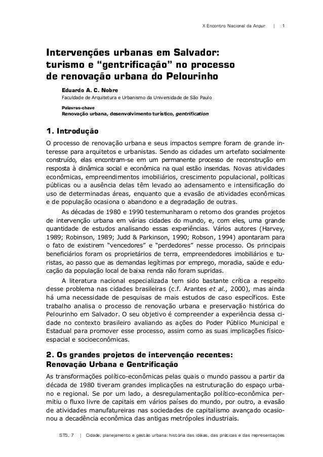 X Encontro Nacional da Anpur | ST5, 7 | Cidade, planejamento e gestão urbana: história das idéias, das práticas e das repr...