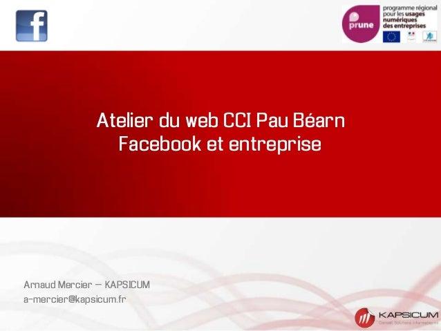 Atelier du web CCI Pau BéarnFacebook et entrepriseArnaud Mercier – KAPSICUMa-mercier@kapsicum.fr