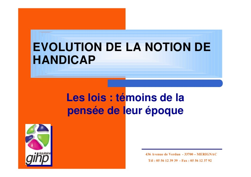 Intervention Gihp Aquitaine Catherine Estienne Evolution De La Loi 2 10 08