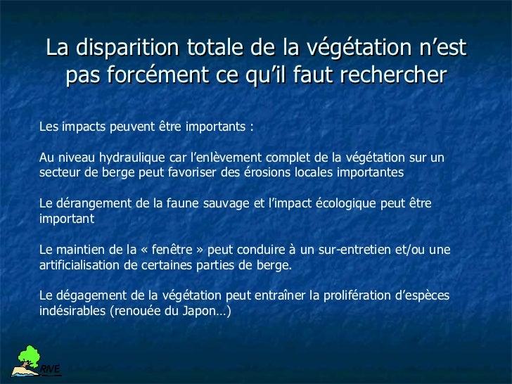 Mise en place de déflecteurs de protection                de bergeR IV E         Limitation des certaines espèces         ...