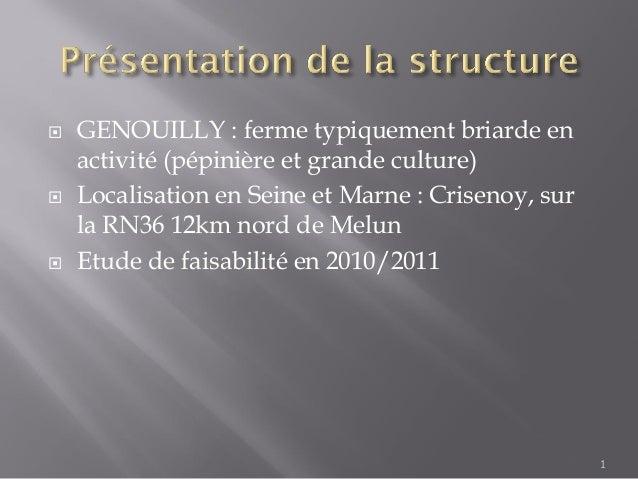  GENOUILLY : ferme typiquement briarde enactivité (pépinière et grande culture) Localisation en Seine et Marne : Criseno...