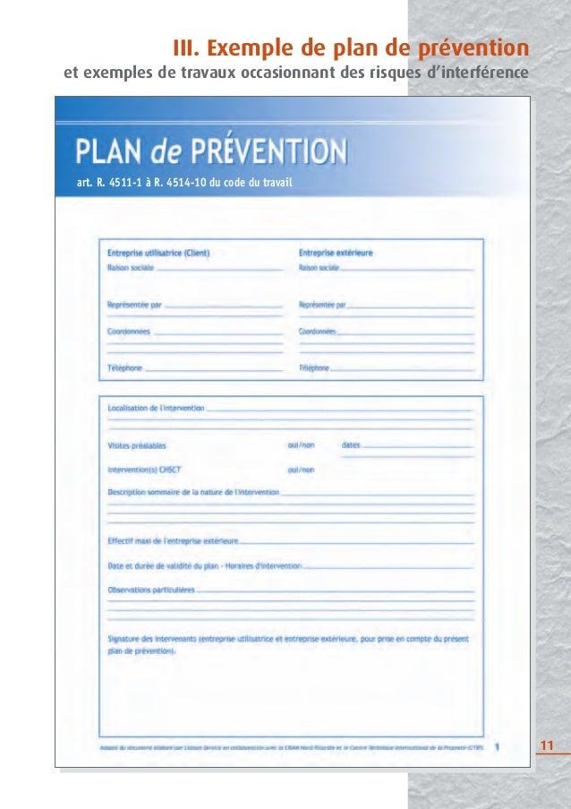 Intervention d 39 entreprises ext rieures inrs 2009 for Plan de prevention des risques entreprises exterieures