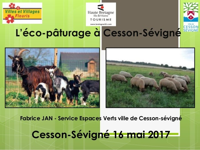 L'éco-pâturage à Cesson-Sévigné Fabrice JAN - Service Espaces Verts ville de Cesson-sévigné Cesson-Sévigné 16 mai 2017