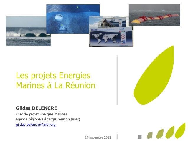 Les projets EnergiesMarines à La RéunionGildas DELENCREchef de projet Energies Marinesagence régionale énergie réunion (ar...