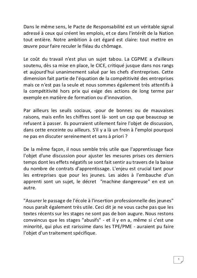 Intervention Jean-François Roubaud - Conférence Sociale 2014 Slide 2