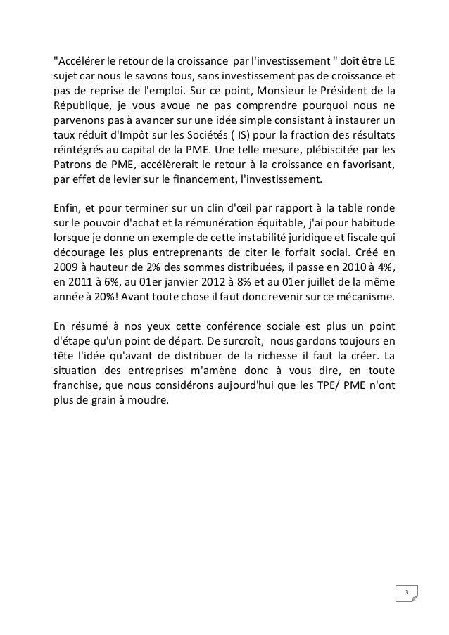 Intervention Jean-François Roubaud - Conférence Sociale 2014 Slide 3