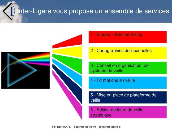 Inter-Ligere vous propose un ensemble de services<br />1 - Etudes – Benchmarking <br />2 - Cartographies décisionnelles<br...