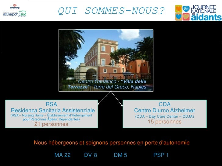 "QUI SOMMES-NOUS?                                      Centro Geriatrico - ""Villa delle                                  Te..."