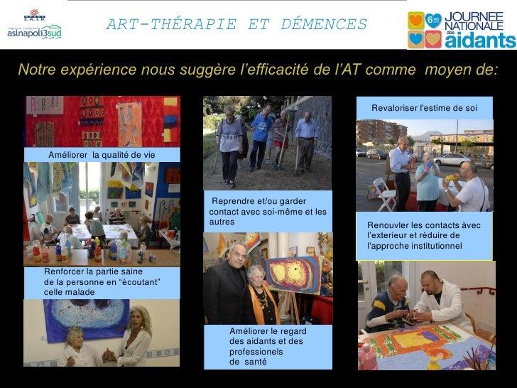 ART-THÉRAPIE ET DÉMENCESNotre expérience nous suggère l'efficacité de l'AT comme moyen de:                                ...