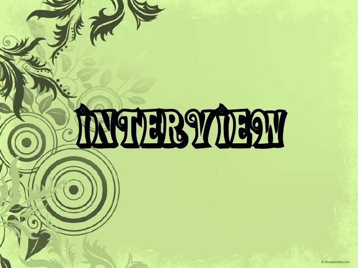 INTERVIEW<br />