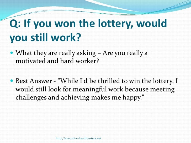 Essay questions for the lottery