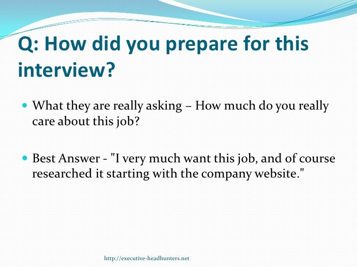 how to best prepare for an interview