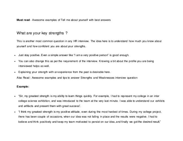 Perfect 3. Must Read   Awesome Examples Of Tell Me About Yourself With Best Answers  ...