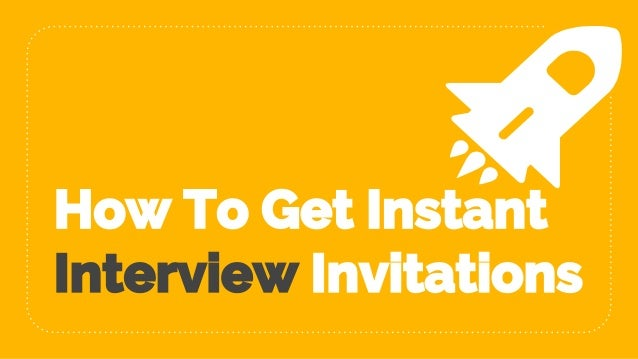 How to get instant interview invitations altavistaventures Images
