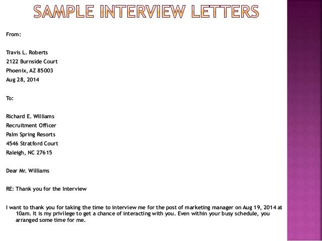 Formal interview letter resume template ideas slideshare stopboris Images