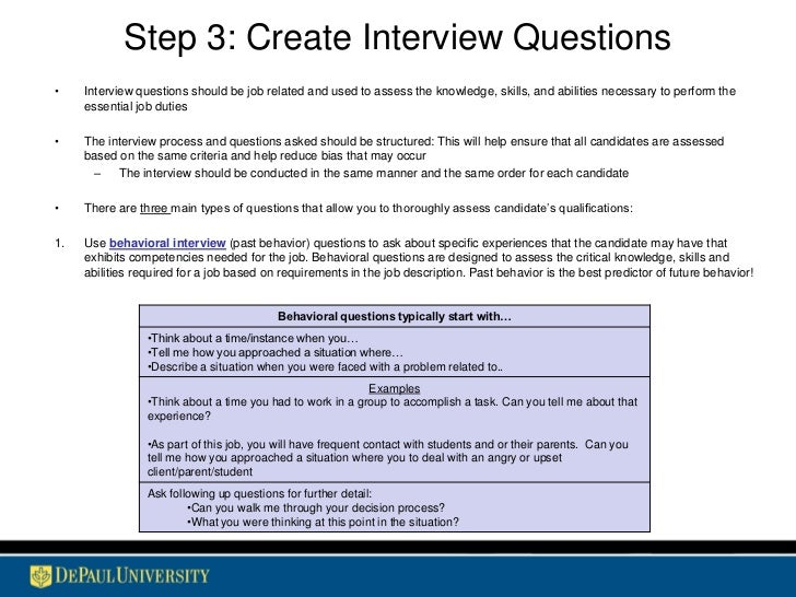 example behavioral interview questions selo l ink co