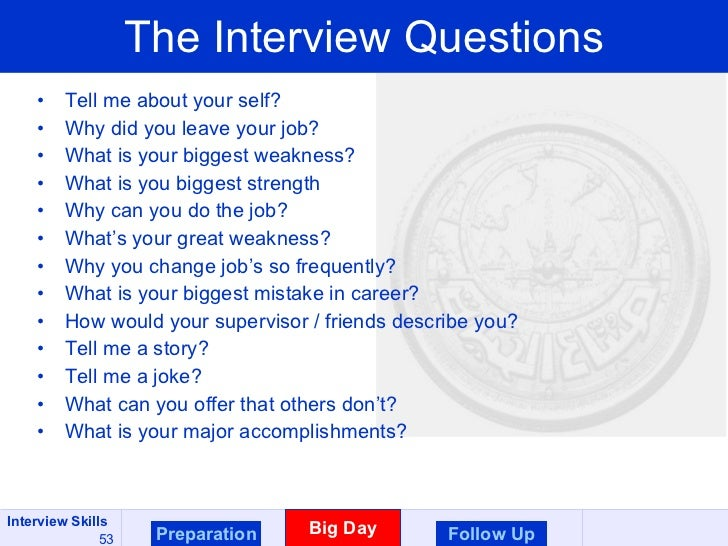 ... 53. The Interview Questions ...