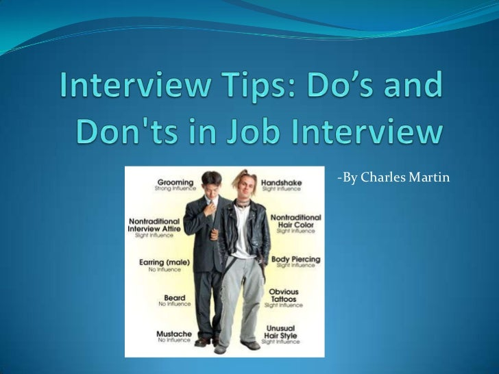 Lovely Interview Tips: Dou0027s And Donu0027ts In Interview.  By Charles Martin ...