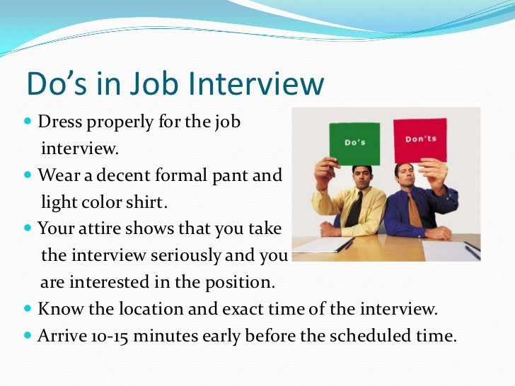 dos in job interview