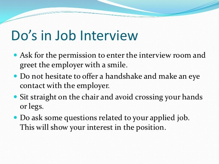 job interview tips dos and donts for a successful first