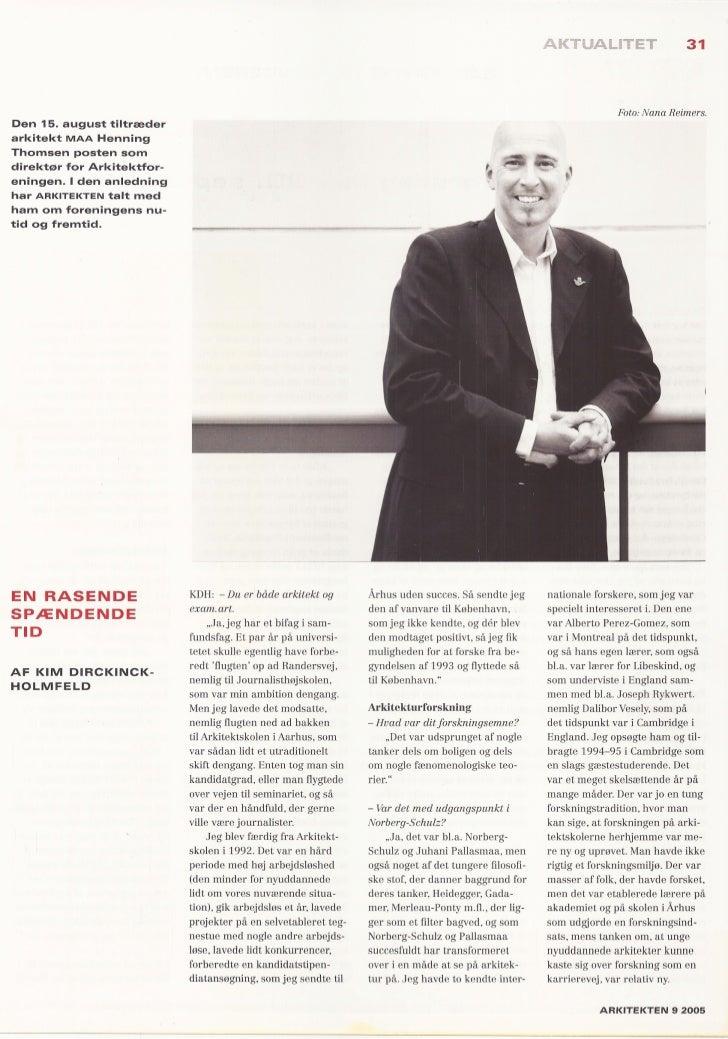 Interview arkitekten 9 2005