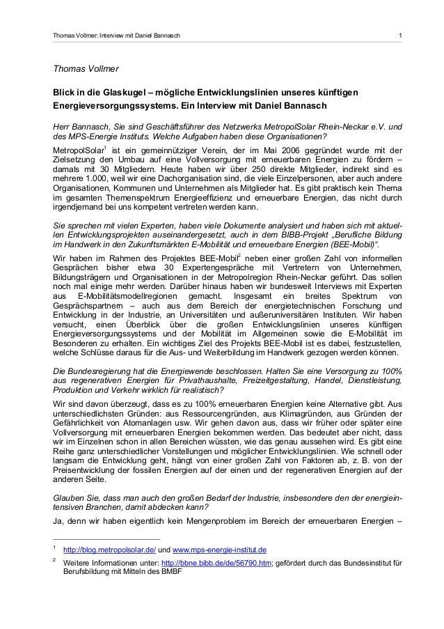 Thomas Vollmer: Interview mit Daniel Bannasch                                                           1Thomas VollmerBli...