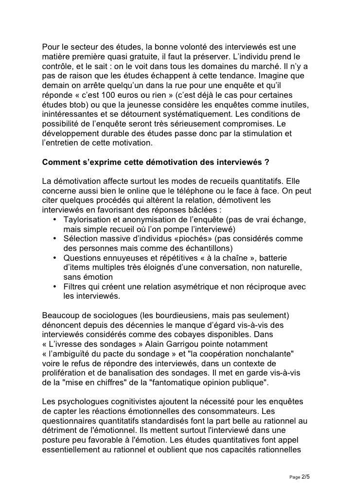 Interview Daniel Bo Le Questionnaire Experience Culturelle Slide 2